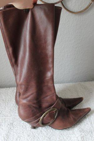 Buffalo Stiefel LEDER Gr. 39 Braun mit schnalle