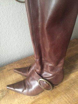 Buffalo Stiefel Leder Gr 39 braun schnalle