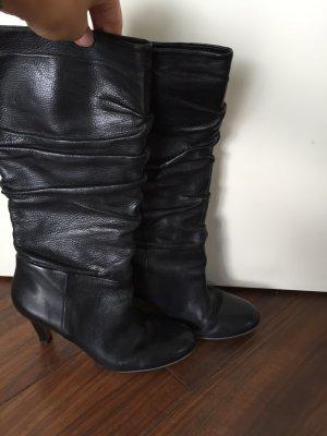 Buffalo Stiefel Leder schwarz