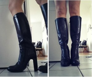 Buffalo Stiefel schwarz Blockabsatz