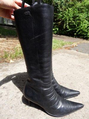 Buffalo Stiefel, Schwarz, Echt Leder, Größe 41, Schaftweite S