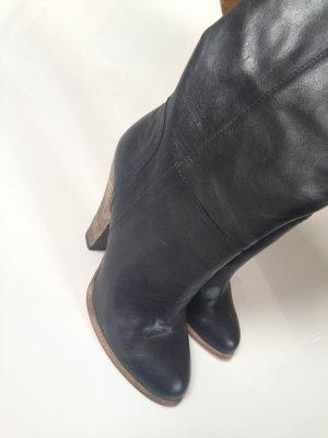 Buffalo Stiefel schwarz echtleder