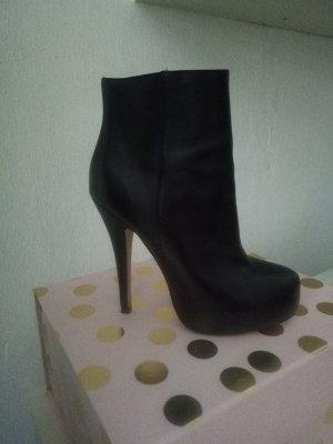 Buffalo Stiefeletten Boots Stiefel Schwarz Leder Booties 38