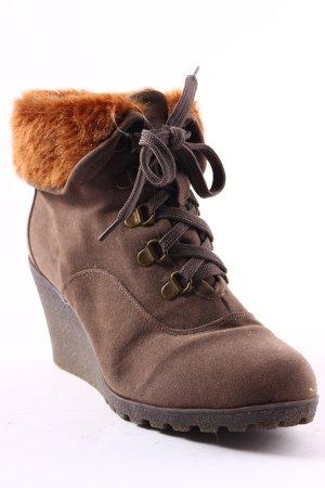Buffalo Scarpina di lana marrone chiaro stile da moda di strada