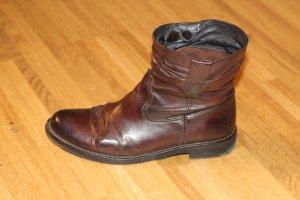 Buffalo Stiefeletten Style-Bootie Leder braun