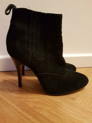 Buffalo Slip-on Booties black leather