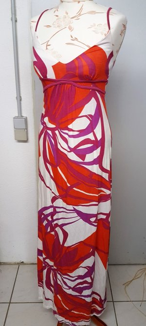 Buffalo Strandkleid / Maxikleid in rot weiß lila