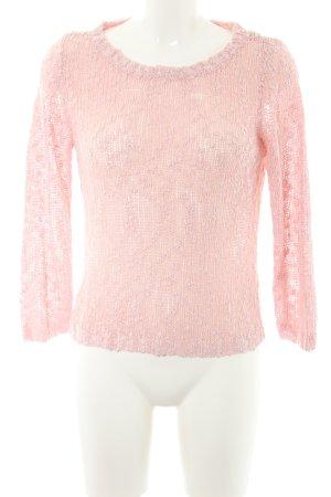 Buffalo Gebreide trui rosé losjes gebreid patroon casual uitstraling