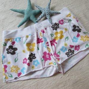 Buffalo * Süße knackige Strand Shorts Hot Pants * weiß Blumendruck * 42 NEU