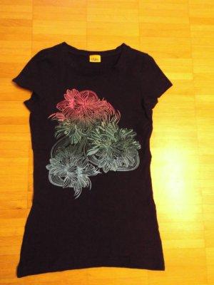 Buffalo T-Shirt Top Schwarz schöner Print Gr. 32 Stretch 1x getragen
