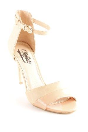 Buffalo Zapatos de tacón con barra en T beige-albaricoque elegante