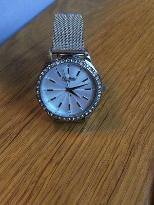 Buffalo Horloge met metalen riempje zilver