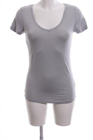 Buffalo V-Ausschnitt-Shirt hellgrau Casual-Look