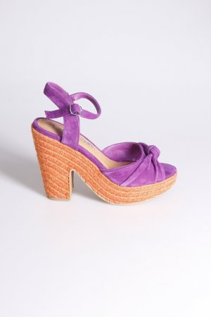 Buffalo Platform High-Heeled Sandal dark violet-orange