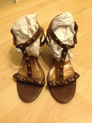 Buffalo Roman Sandals brown leather