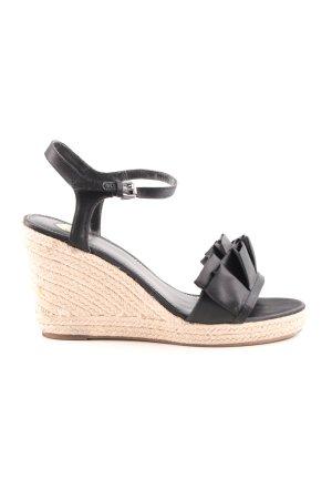 Buffalo Wedges Sandaletten schwarz-creme Casual-Look