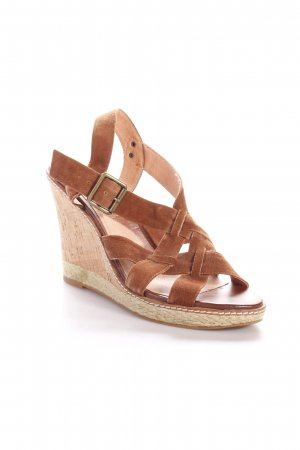 Buffalo Wedge Sandals brown-beige Cork elements