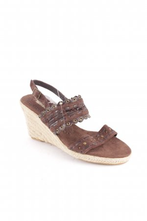 Buffalo Wedges Sandaletten braun-hellbeige Street-Fashion-Look