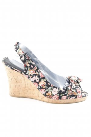 Buffalo Wedge Sandals floral pattern romantic style