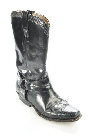 Buffalo Western Stiefel schwarz