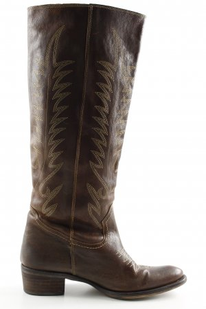 Buffalo Stivale western marrone stile casual