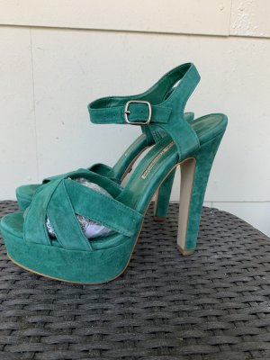 Buffalo Strapped High-Heeled Sandals cadet blue-turquoise