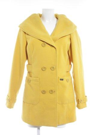 Buffalo Cappotto invernale giallo-oro puntinato stile casual