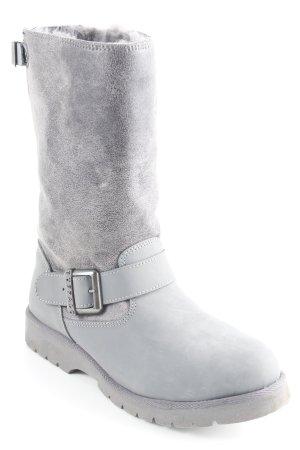 Buffalo Winterstiefel grau-dunkelgrau Kuschel-Optik