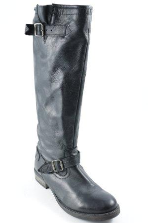 Buffalo Winterstiefel  schwarz Leder