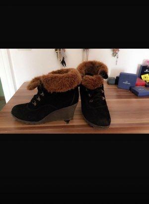 Buffalo Bottine d'hiver noir-brun pelage