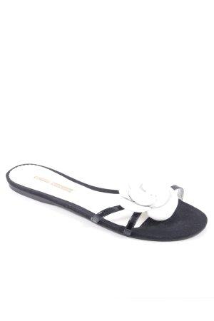 Buffalo Zehentrenner-Sandalen weiß-schwarz klassischer Stil