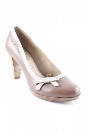 Bugatti High Heels braun-beige Business-Look