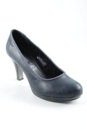 Bugatti High Heels dunkelblau Casual-Look