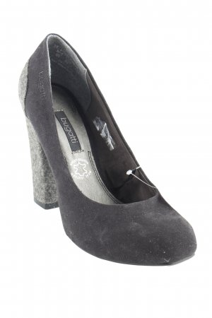 Bugatti High Heels schwarz-grau Casual-Look