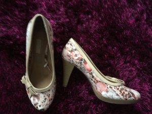 Bugatti Pumps Blumenmuster rosa/lachs/weiß