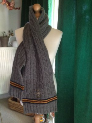 Bugatti Woolen Scarf dark grey wool