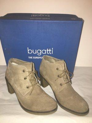 Bugatti Stiefeletten Ankle Boots Gr.41 khaki gefüttert Leder