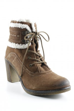 Bugatti Winter-Stiefeletten braun-wollweiß Casual-Look