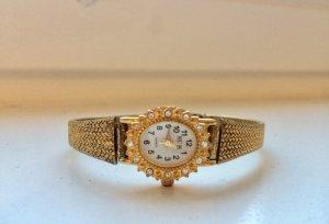 BUGOR 24 Karat Goldauflage/Swarowski, Armbanduhr