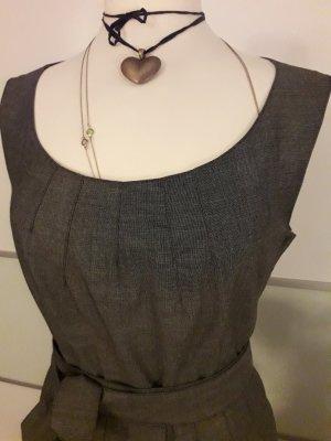 H&M Premium Vestido gris claro-gris oscuro