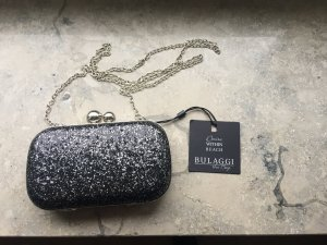 Bulaggi Clutch black-silver-colored synthetic material
