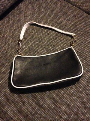 Bulaggi Handtasche/Clutch klein in schwarz/weiß