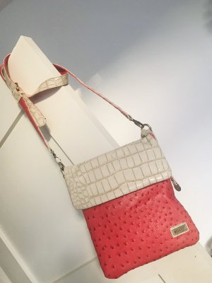Bulaggi Crossbody bag raspberry-red-cream imitation leather