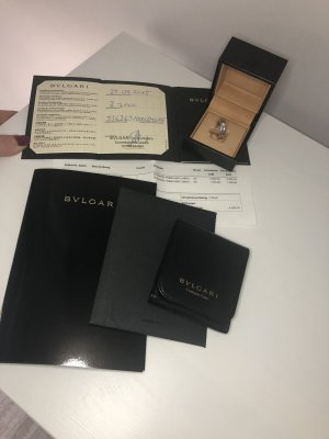 Bulgari Gold Ring white-silver-colored real gold