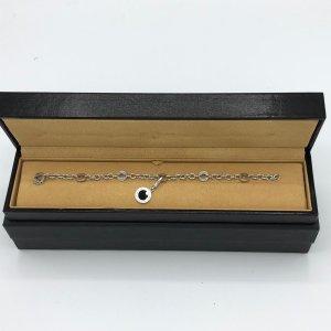 BULGARI BVLGARI Armkette Charms mit black Onyx 18K Weißgold - original Rechnung
