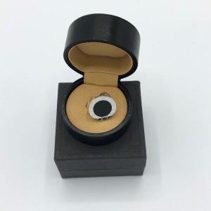 BULGARI BVLGARI Ring CIRCULAR 18K Weißgold mit black Onyx Stein - Größe 64