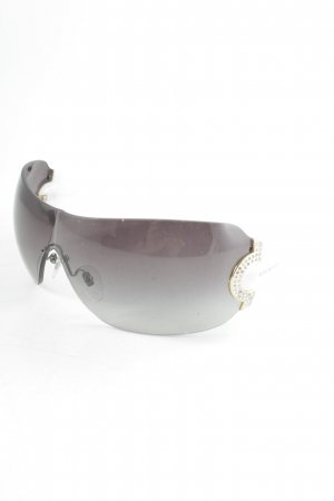 Bulgari Angular Shaped Sunglasses black-white extravagant style