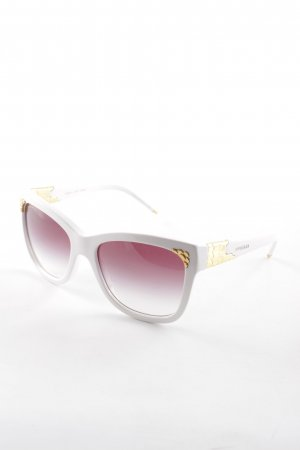 Bulgari Retro Glasses white extravagant style