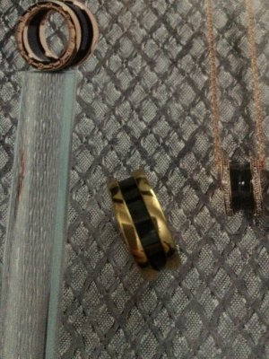 Bulgari Ring- Edelstahl vergoldet Gr. 54