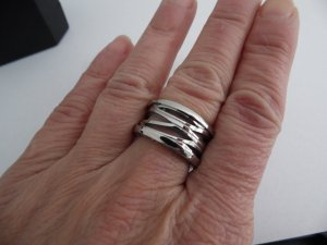 Bulgari Ring Gr.17//54 Edelstahl gestempelt